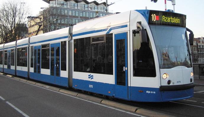 Трамваи Амстердама, карта и